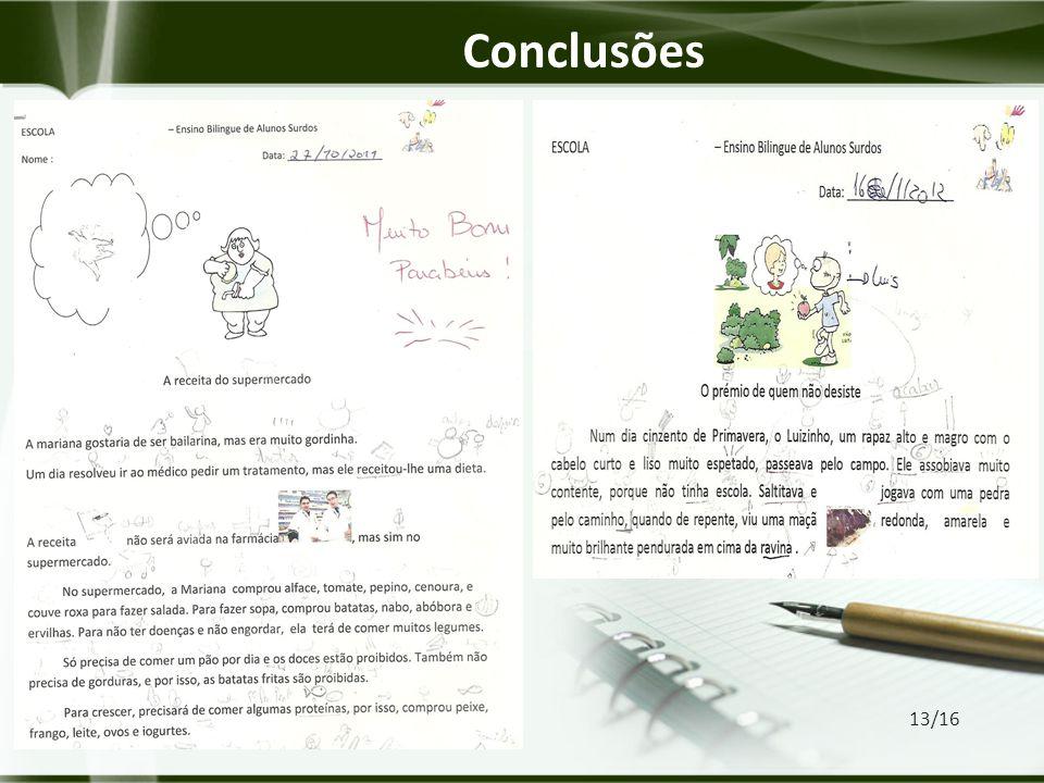 Conclusões 13/16