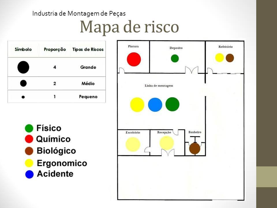 MAPA DE RISCO AMBIENTAL Atribuições da CIPA NR5 - item 5:16 a). Industria de Montagem de Peças