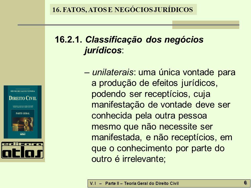 16.FATOS, ATOS E NEGÓCIOS JURÍDICOS V.