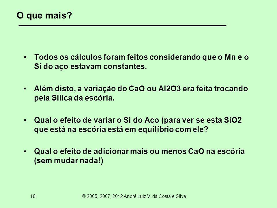 18 © 2005, 2007, 2012 André Luiz V. da Costa e Silva O que mais.
