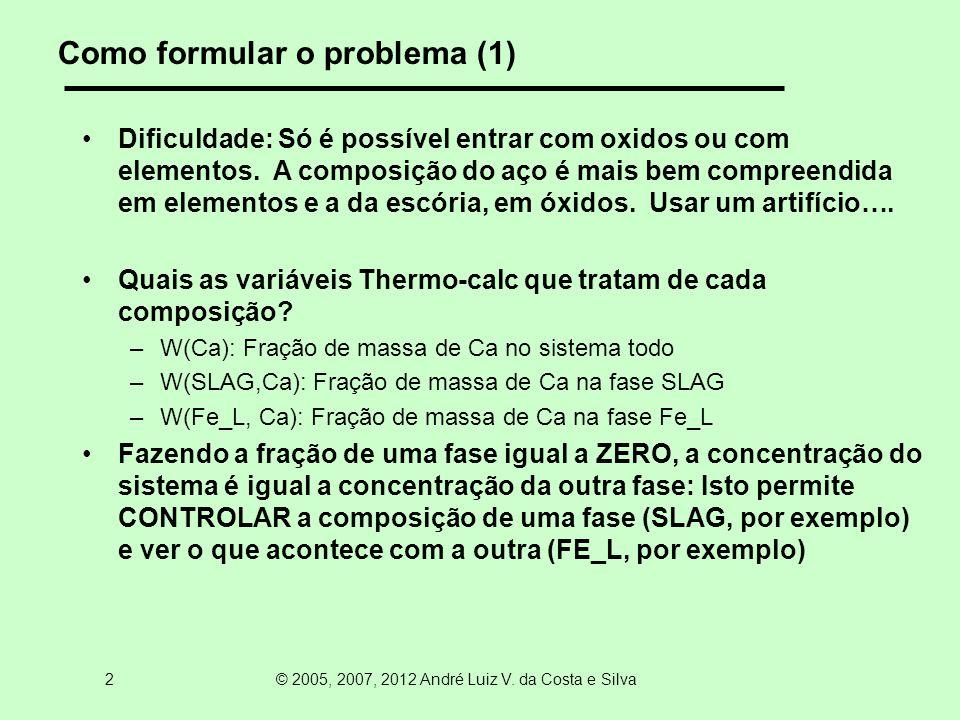 13 © 2005, 2007, 2012 André Luiz V. da Costa e Silva Novo equilibrio