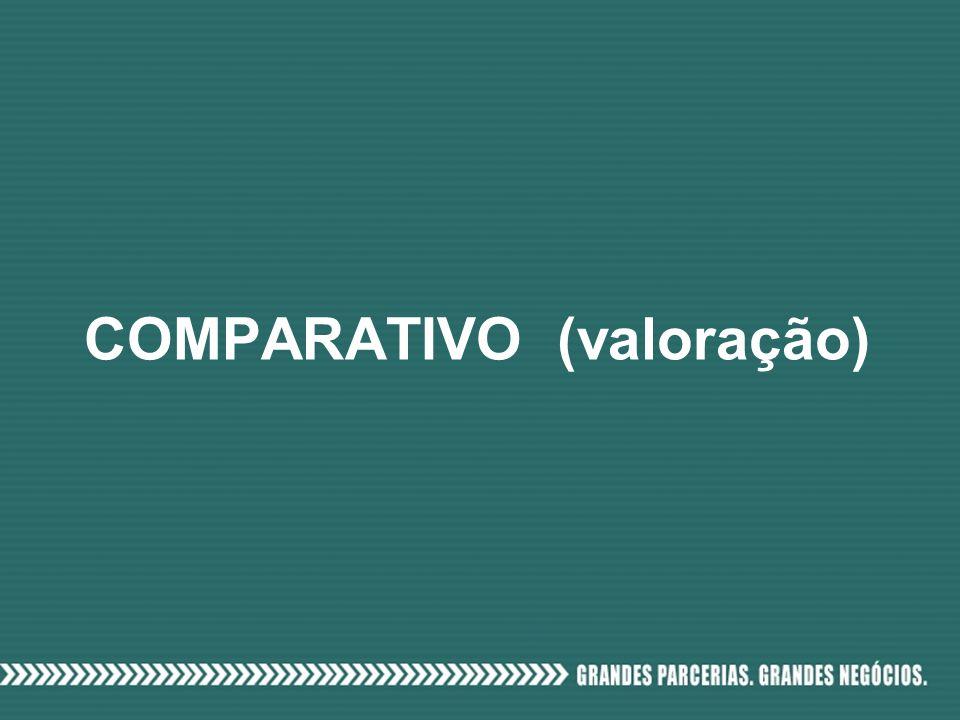 COMPARATIVO (valoração)