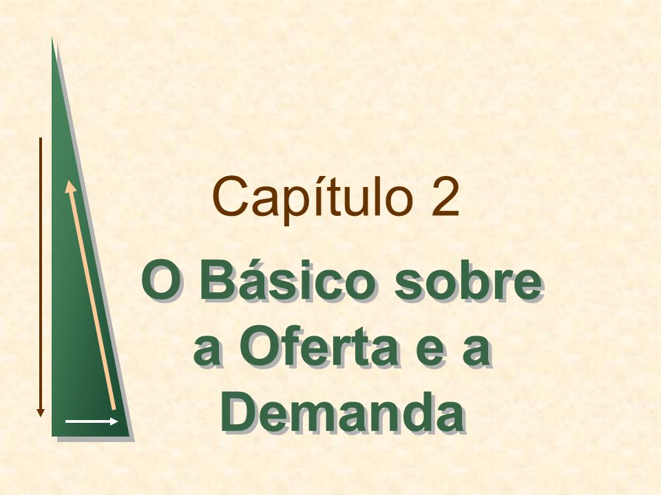 Capítulo 2: O básico sobre a oferta e a demandaSlide 62 Elasticidades da Oferta e Demanda Curva de Oferta de Trigo em 1981 Q S = 1.800 + 240P Curva de Demanda de Trigo em 1981 Q D = 3.550 - 266P O Mercado de Trigo