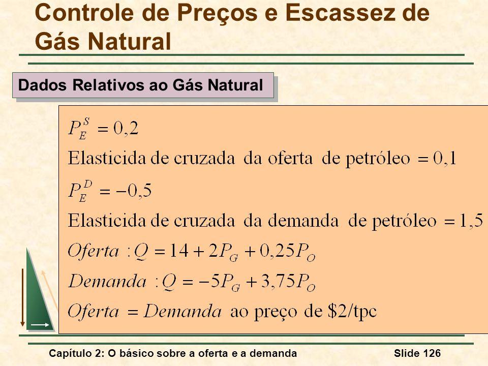 Capítulo 2: O básico sobre a oferta e a demandaSlide 126 Controle de Preços e Escassez de Gás Natural Dados Relativos ao Gás Natural