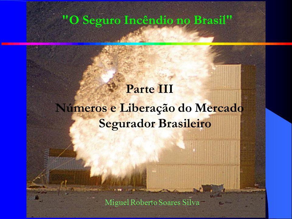 Miguel Roberto Soares Silva O Seguro Incêndio no Brasil Parte III Números e Liberação do Mercado Segurador Brasileiro
