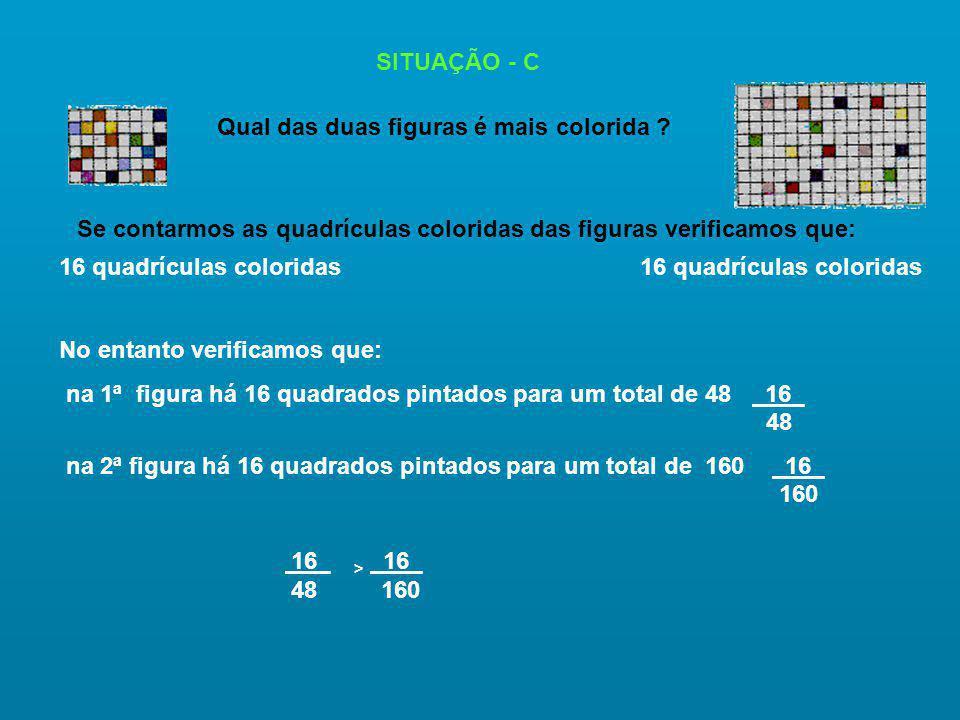 SITUAÇÃO - C Qual das duas figuras é mais colorida .