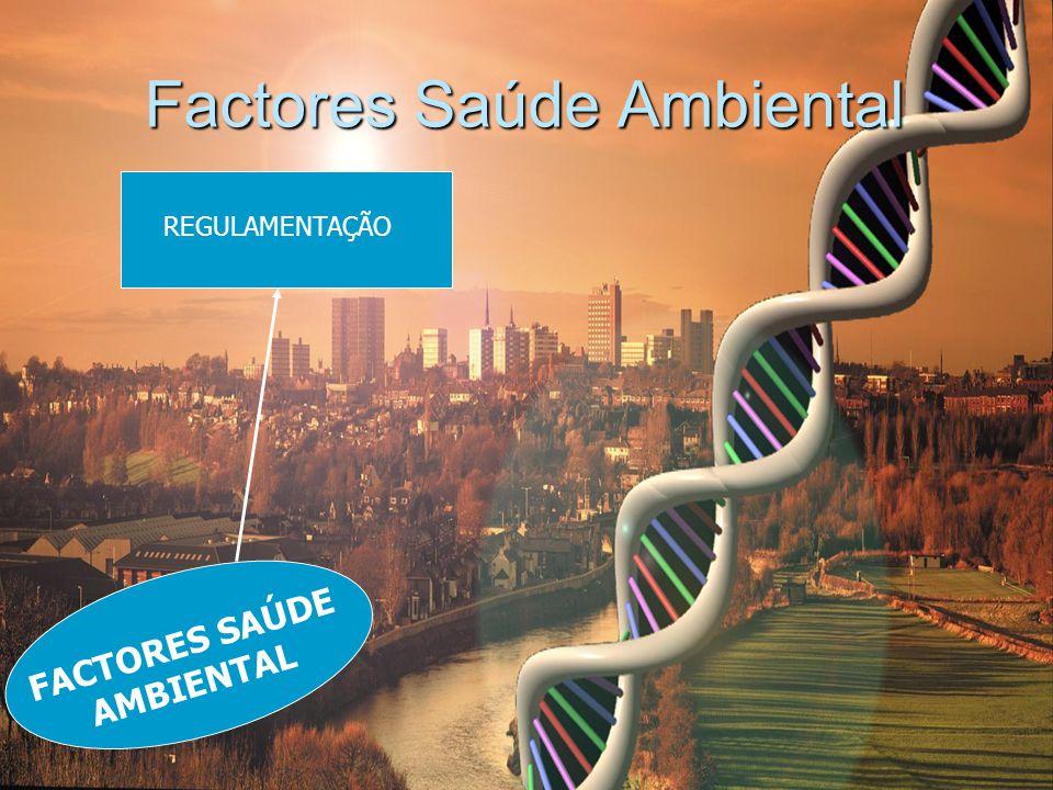 Factores Saúde Ambiental REGULAMENTAÇÃO FACTORES SAÚDE AMBIENTAL