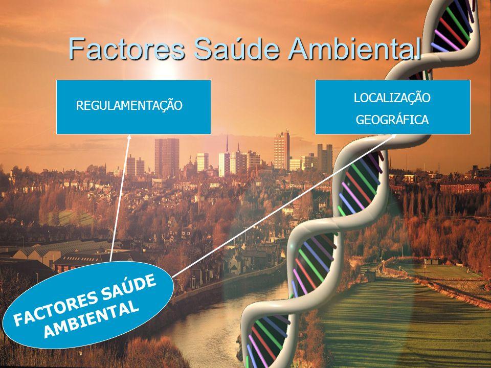 Factores Saúde Ambiental REGULAMENTAÇÃO LOCALIZAÇÃO GEOGRÁFICA FACTORES SAÚDE AMBIENTAL
