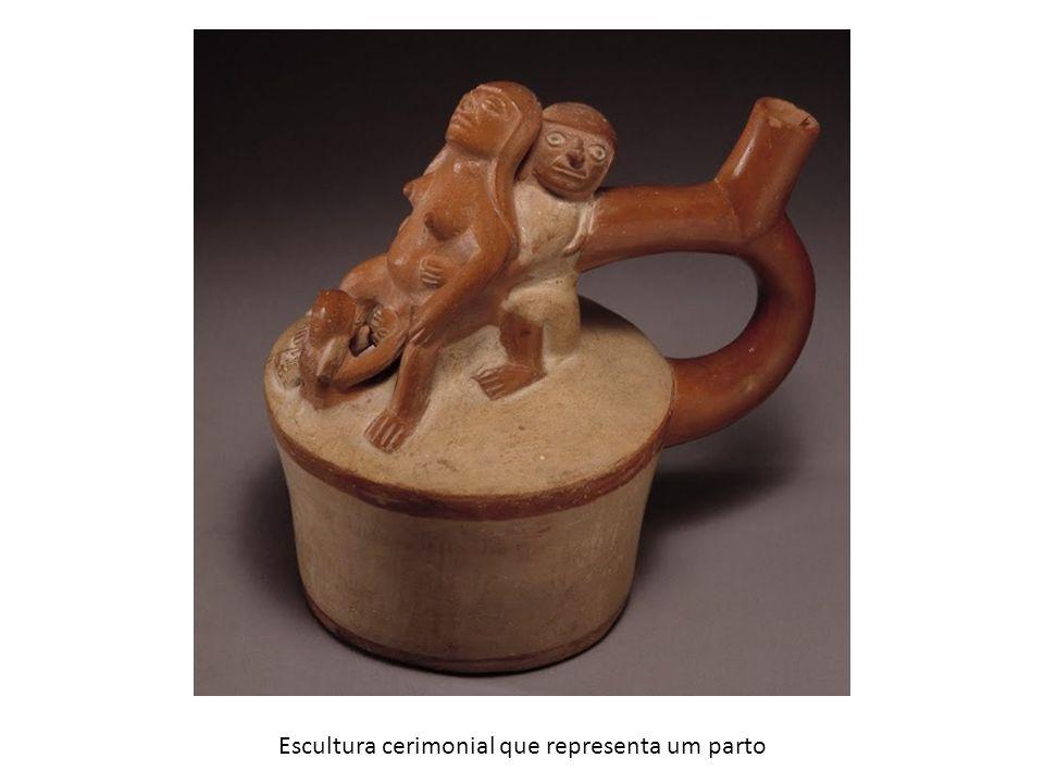 Escultura cerimonial que representa um parto
