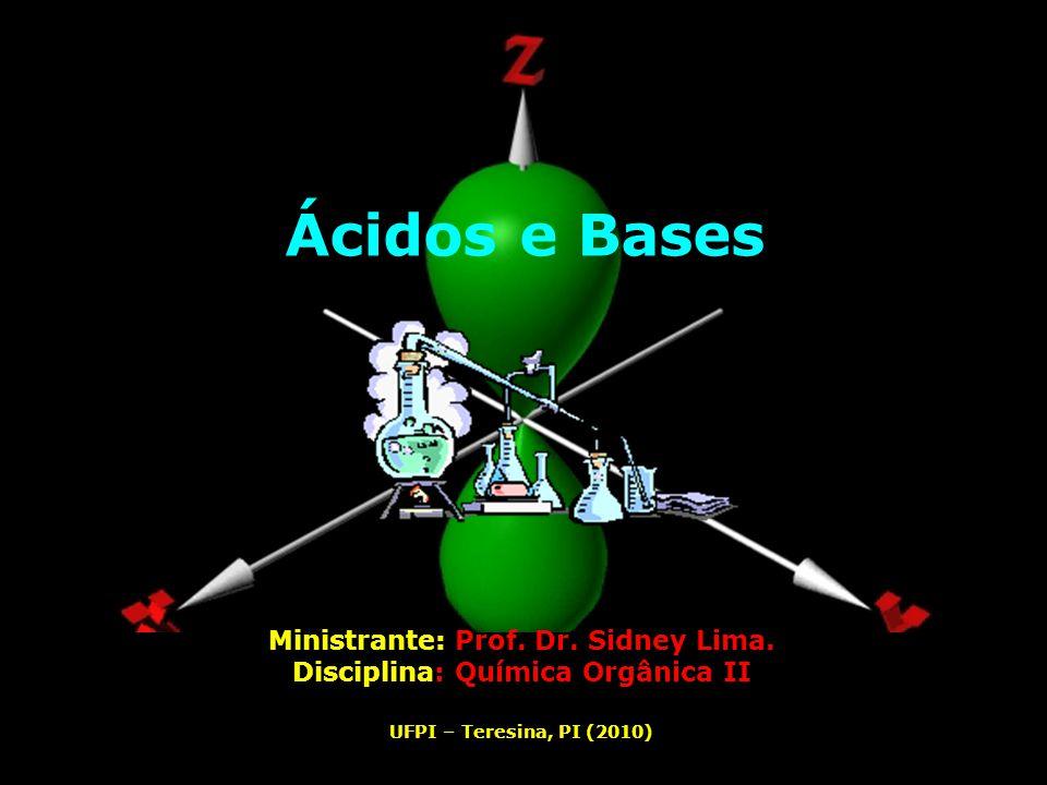 Ácidos e Bases Ministrante: Prof. Dr. Sidney Lima. Disciplina: Química Orgânica II UFPI – Teresina, PI (2010)