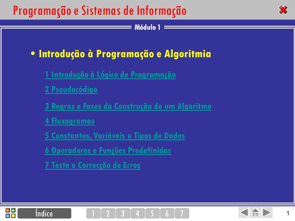 Módulo 1 1234567 2 1 Introdução à Lógica de Programação Lógica Sequência Lógica Instruções Algoritmos Programas Solução a partir de um programa de computador Solução na forma de algoritmo Problema Fase de resolução do problema Fase de implementação Passos difíceis 1