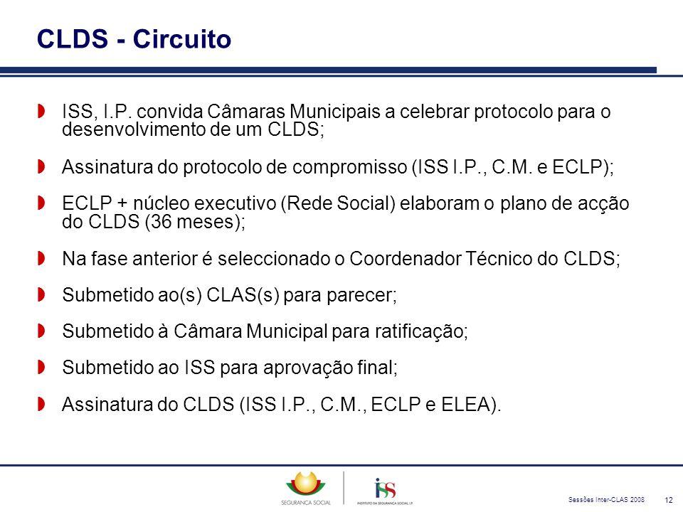 Sessões Inter-CLAS 2008 12 CLDS - Circuito  ISS, I.P. convida Câmaras Municipais a celebrar protocolo para o desenvolvimento de um CLDS;  Assinatura