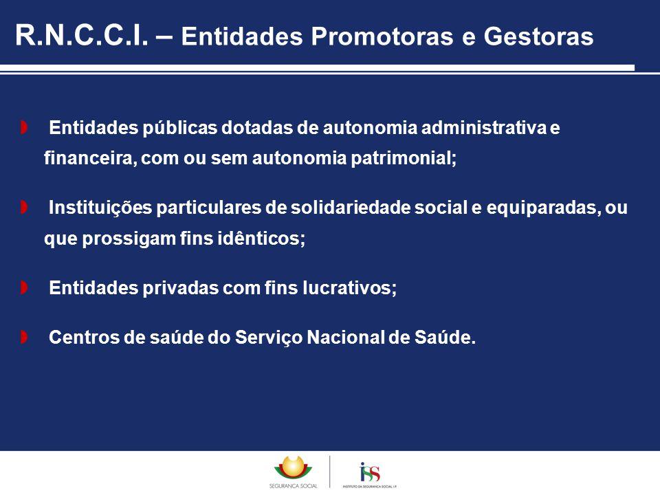  Entidades públicas dotadas de autonomia administrativa e financeira, com ou sem autonomia patrimonial;  Instituições particulares de solidariedade