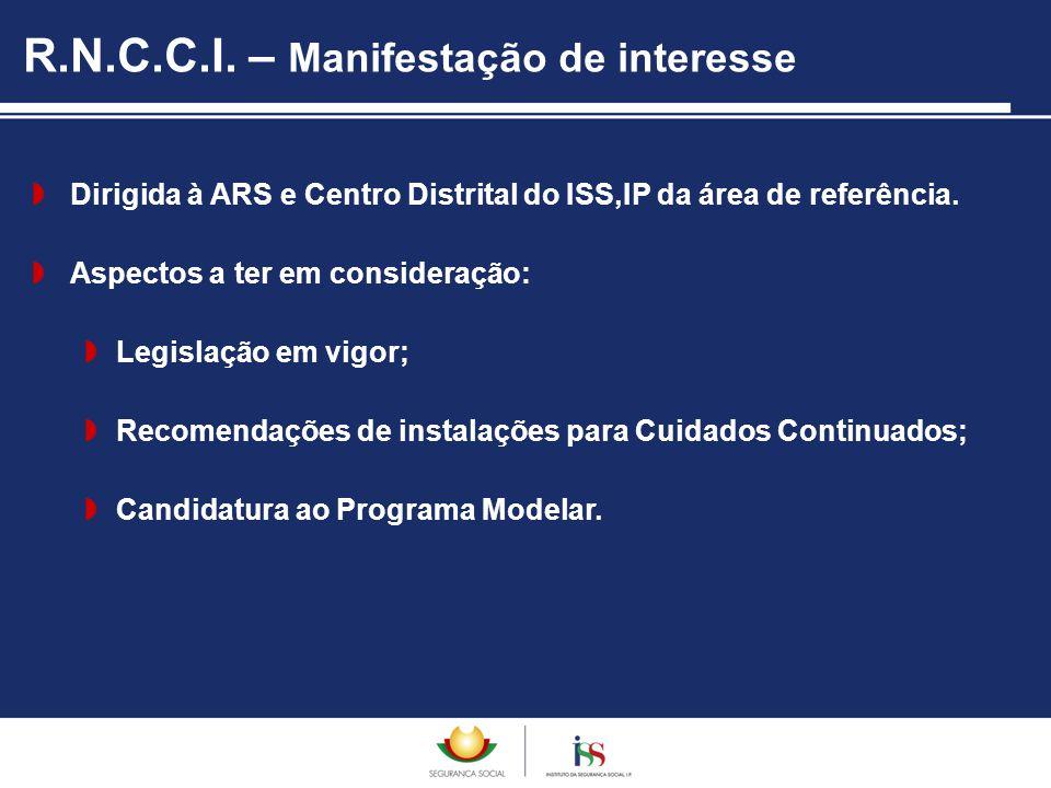  Dirigida à ARS e Centro Distrital do ISS,IP da área de referência.  Aspectos a ter em consideração:  Legislação em vigor;  Recomendações de insta