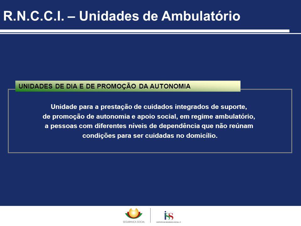 Unidade para a prestação de cuidados integrados de suporte, de promoção de autonomia e apoio social, em regime ambulatório, a pessoas com diferentes n