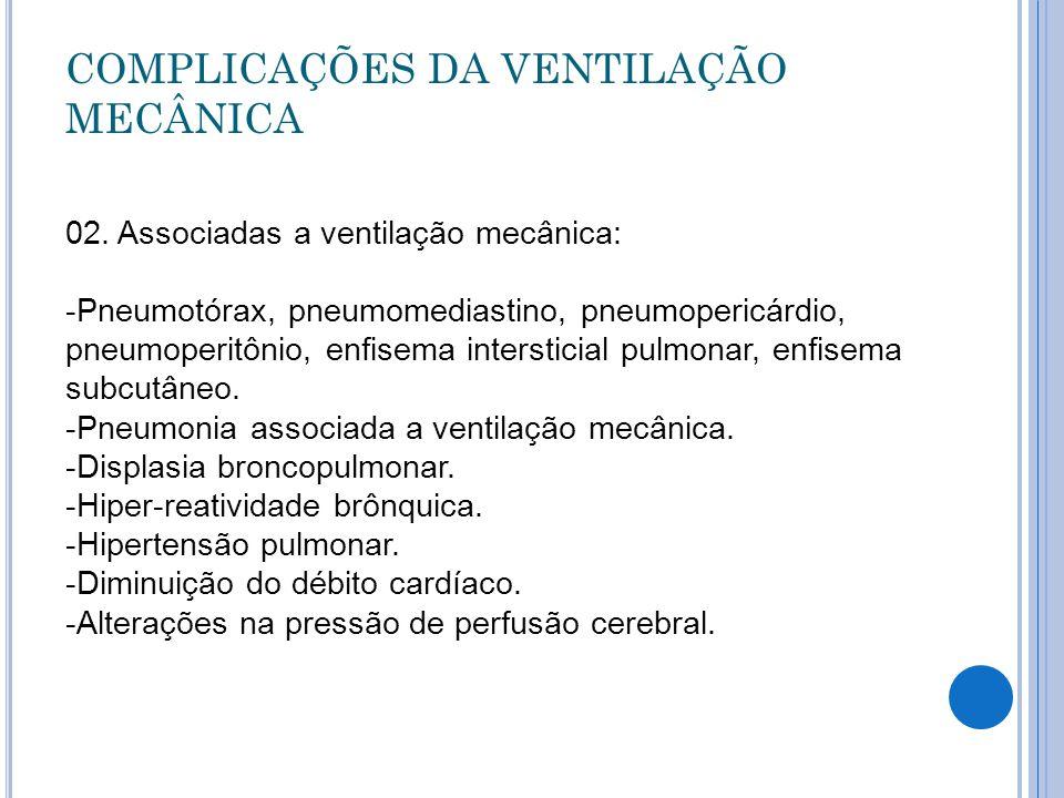 COMPLICAÇÕES DA VENTILAÇÃO MECÂNICA 02.