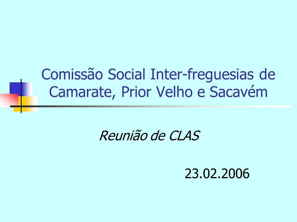 Comissão Social Inter-freguesias de Camarate, Prior Velho e Sacavém Reunião de CLAS 23.02.2006
