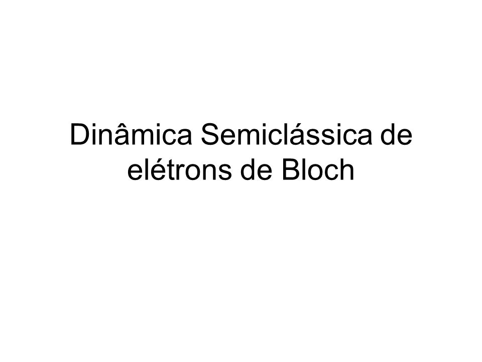 Sommerfeld vs. Bloch demonstrar