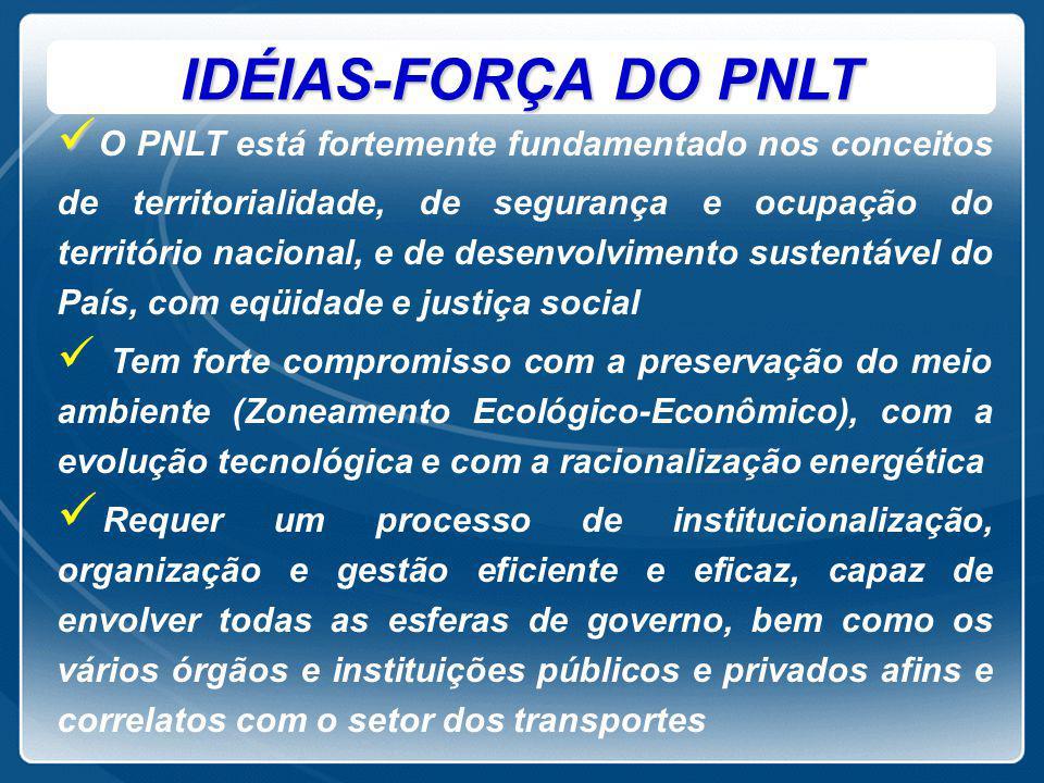 COMPLEXIDADE/DIFICULDADES   Implantação complexa das relações inter-institucionais, na medida em que o PNLT envolve um conjunto bastante amplo e diversificado de órgãos e entidades na sua formulação, no seu desenvolvimento e na perenização de seu Banco de Dados.
