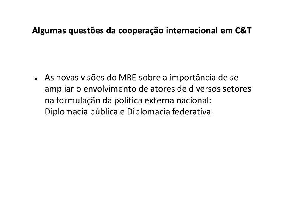 As novas visões do MRE sobre a importância de se ampliar o envolvimento de atores de diversos setores na formulação da política externa nacional: Diplomacia pública e Diplomacia federativa.