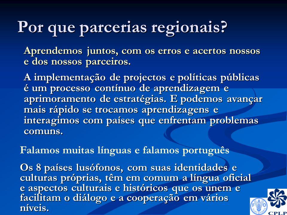 Por que parcerias regionais.