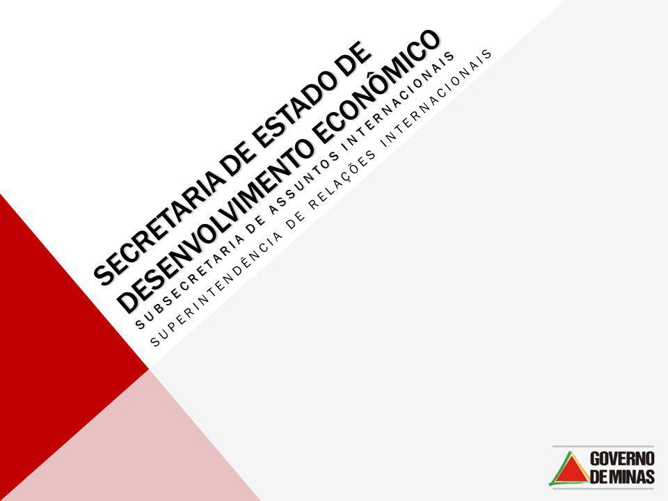 SECRETARIA DE ESTADO DE DESENVOLVIMENTO ECONÔMICO SUBSECRETARIA DE ASSUNTOS INTERNACIONAIS SUPERINTENDÊNCIA DE RELAÇÕES INTERNACIONAIS