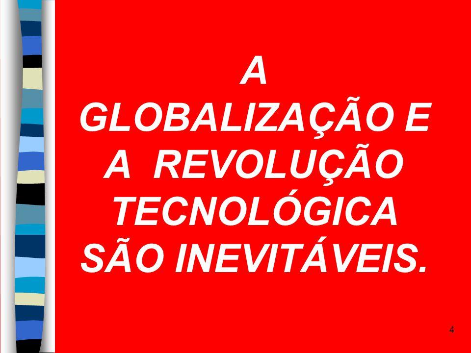 4 A GLOBALIZAÇÃO E A REVOLUÇÃO TECNOLÓGICA SÃO INEVITÁVEIS.
