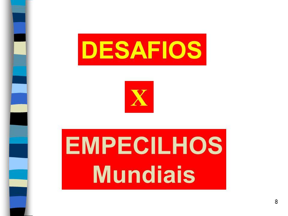 8 DESAFIOS EMPECILHOS Mundiais X
