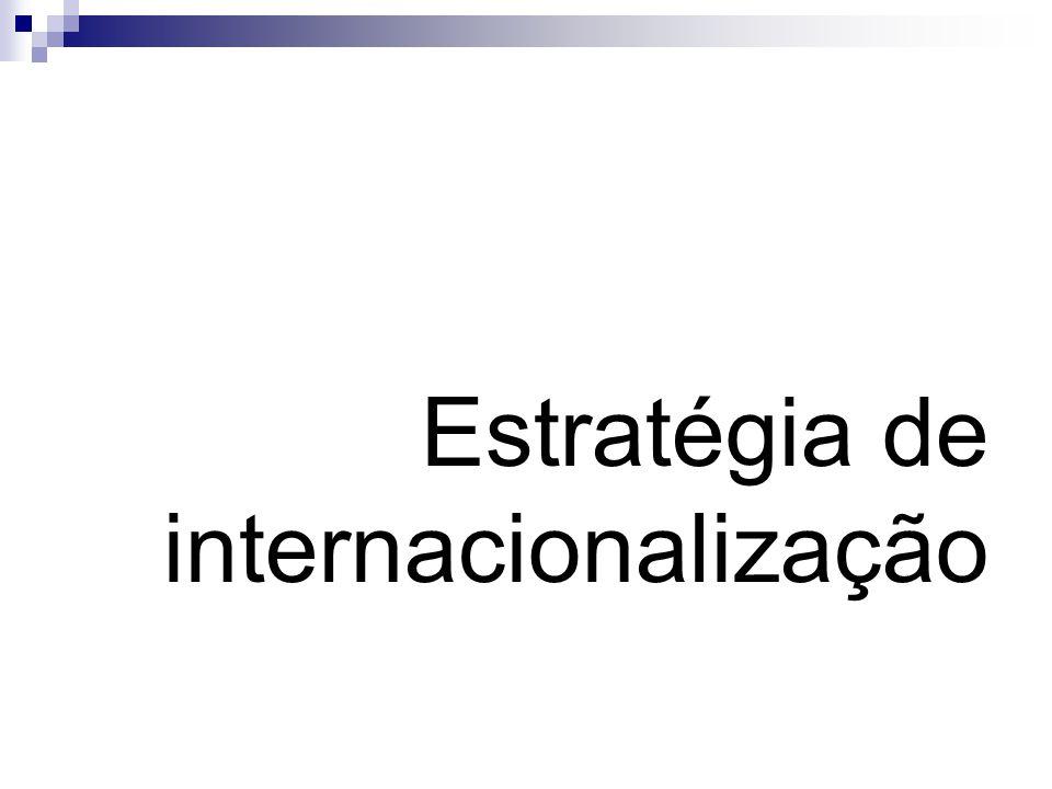 Gestão do envolvimento internacional Em particular a internacionalização via investimento directo costuma ser levada a cabo em várias etapas de uma forma sequencial.