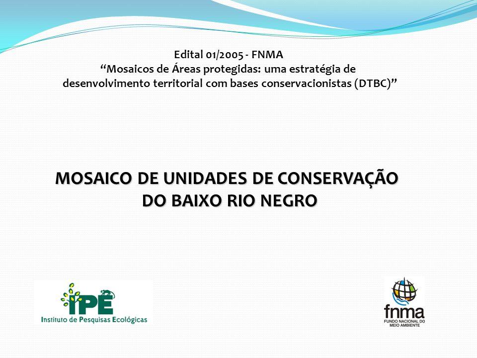 Edital 01/2005 - FNMA Mosaicos de Áreas protegidas: uma estratégia de desenvolvimento territorial com bases conservacionistas (DTBC) MOSAICO DE UNIDADES DE CONSERVAÇÃO DO BAIXO RIO NEGRO
