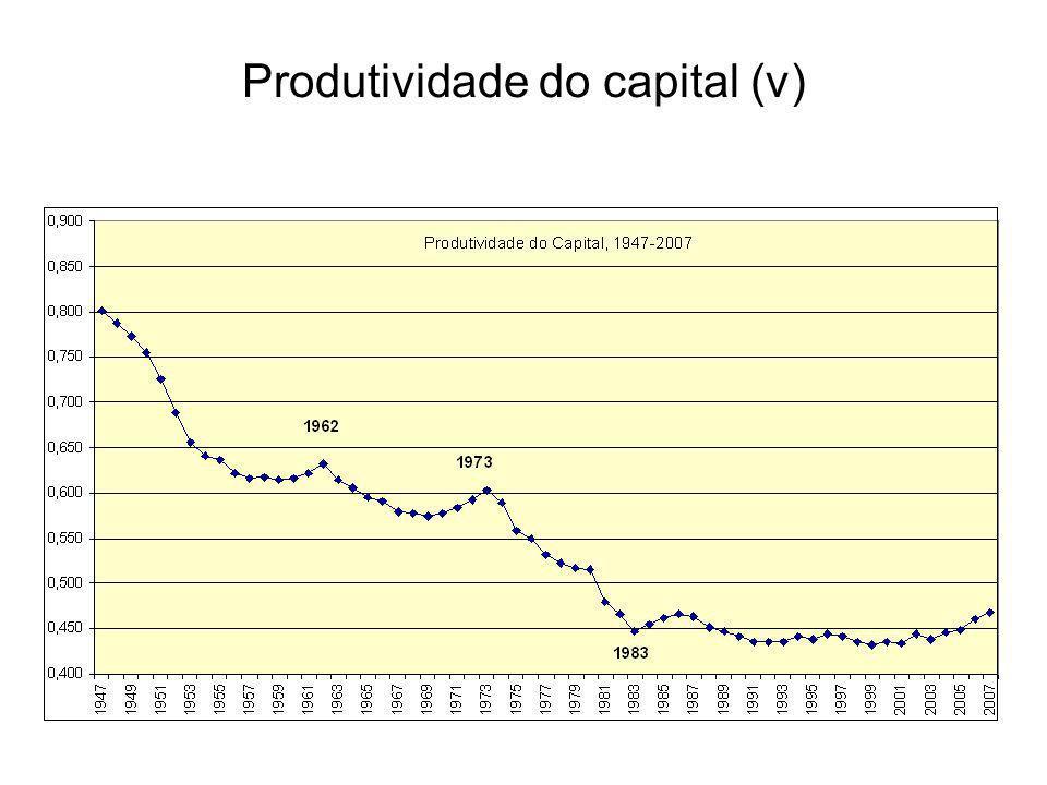 Produtividade do capital (v)