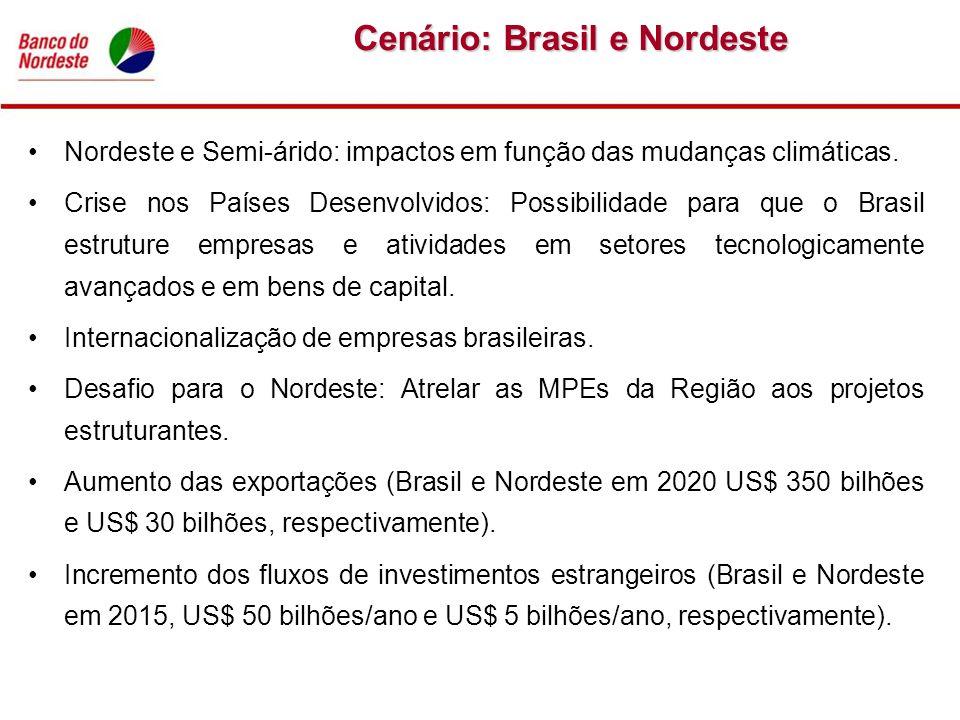 Nordeste e Semi-árido: impactos em função das mudanças climáticas. Crise nos Países Desenvolvidos: Possibilidade para que o Brasil estruture empresas