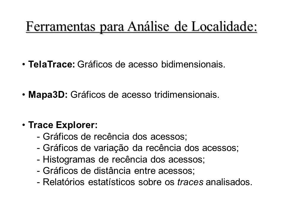 Ferramentas para Análise de Localidade: TelaTrace: Gráficos de acesso bidimensionais.
