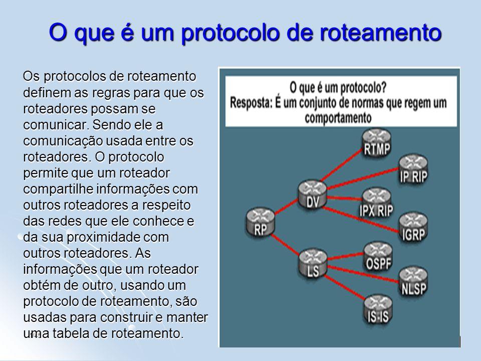 1/453 O que é um protocolo de roteamento Os protocolos de roteamento definem as regras para que os roteadores possam se comunicar. Sendo ele a comunic
