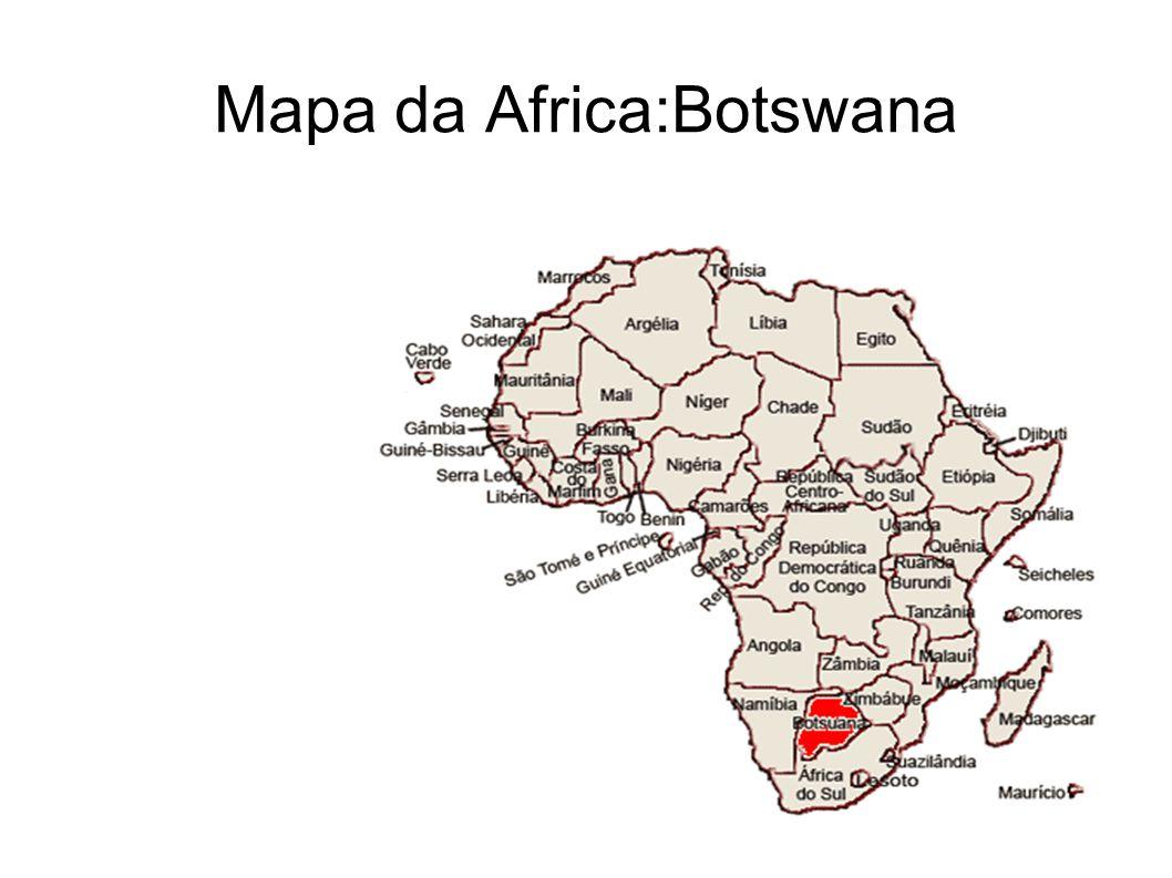 Mapa da Africa:Botswana