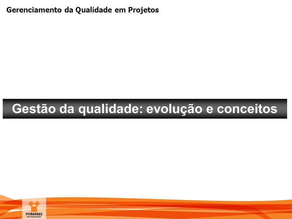 Gerenciamento da Qualidade em Projetos Gestão da qualidade: evolução e conceitos