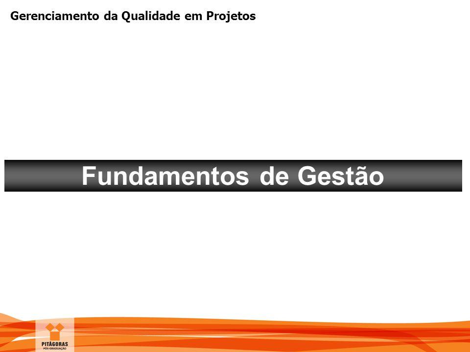 Gerenciamento da Qualidade em Projetos Fundamentos de Gestão