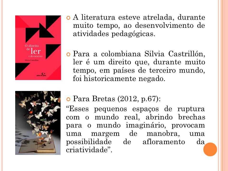 A LEITURA NO BRASIL 50% da população se diz leitora; 85% dos brasileiros têm como lazer assistir televisão; A leitura aparece em 7º lugar; 53% dos entrevistados não leem por falta de tempo; A média de leitura no país é de 1,85 livros por ano; A média entre os leitores é de 3,74; 45% dos leitores viram seus professores lendo; 68% dos não leitores nunca viram o pai lendo; 88% dos não leitores jamais ganhou um livro quando criança;