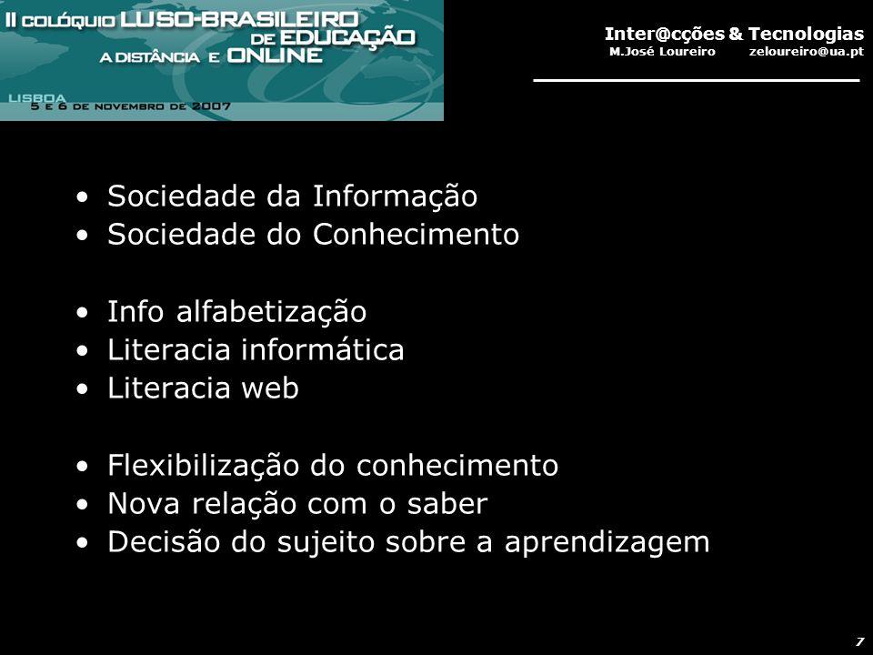 Inter@cções & Tecnologias M.José Loureiro zeloureiro@ua.pt 18 Plataforma SCALE Os alunos aderiram incondicionalmente à utilização da ferramenta para elaborar mapas argumentativos.