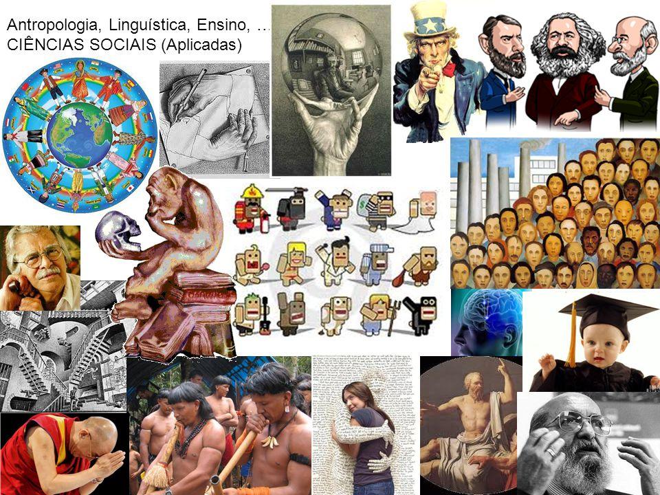 Antropologia, Linguística, Ensino, … CIÊNCIAS SOCIAIS (Aplicadas)