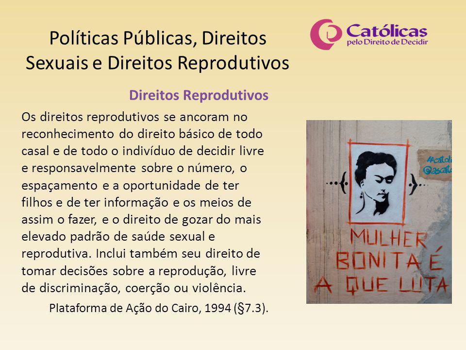 Políticas Públicas, Direitos Sexuais e Direitos Reprodutivos Direitos Reprodutivos Os direitos reprodutivos se ancoram no reconhecimento do direito bá