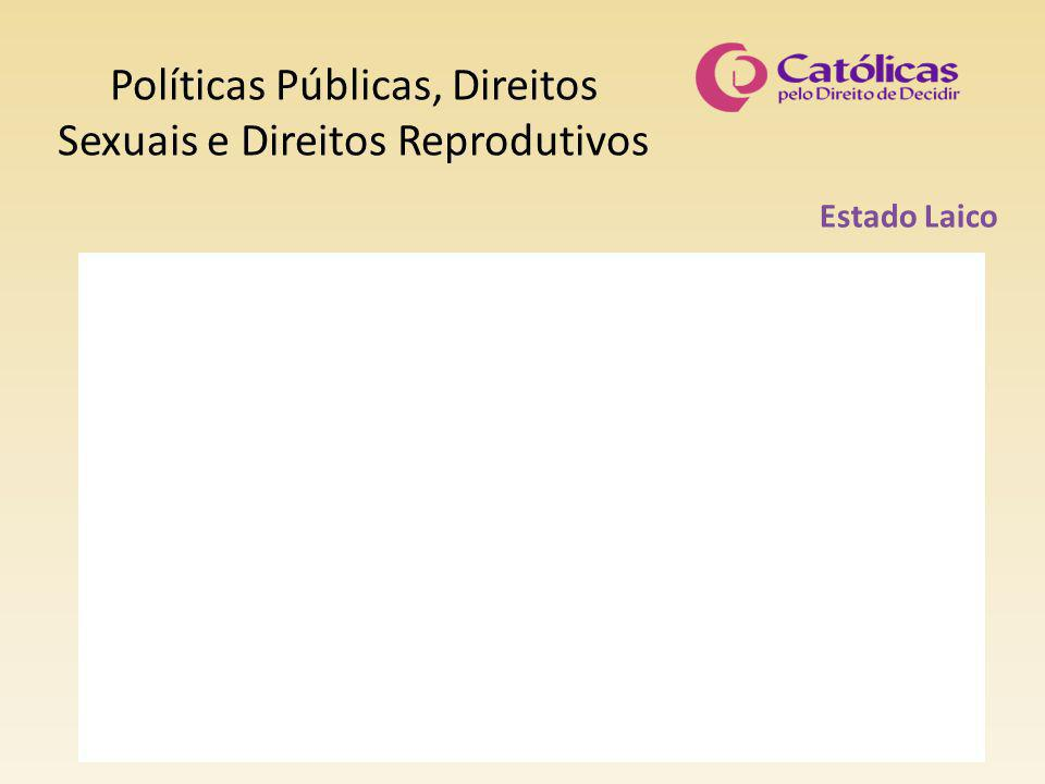 Políticas Públicas, Direitos Sexuais e Direitos Reprodutivos Estado Laico