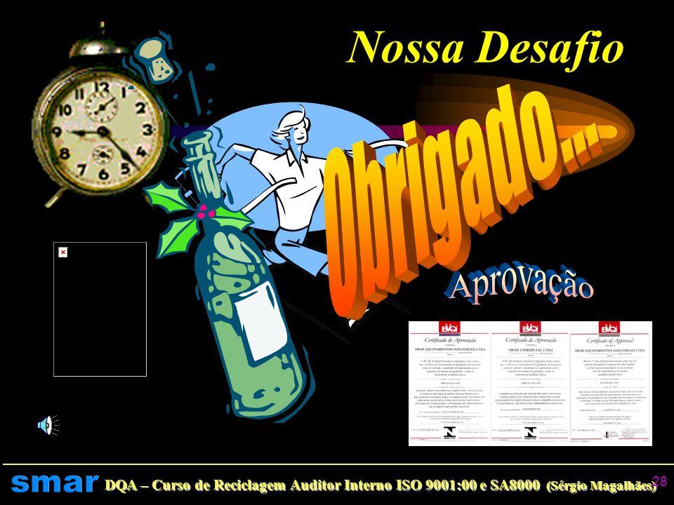 DQA – Curso de Reciclagem Auditor Interno ISO 9001:00 e SA8000 (Sérgio Magalhães) 27 Próximos Eventos