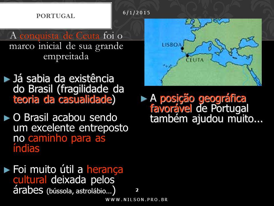 Nos primeiros trinta anos do século XVI, Portugal enviou apenas expedições de patrulha e extração do pau-brasil.