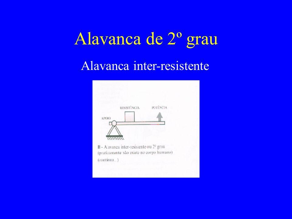 Alavanca de 2º grau Alavanca inter-resistente