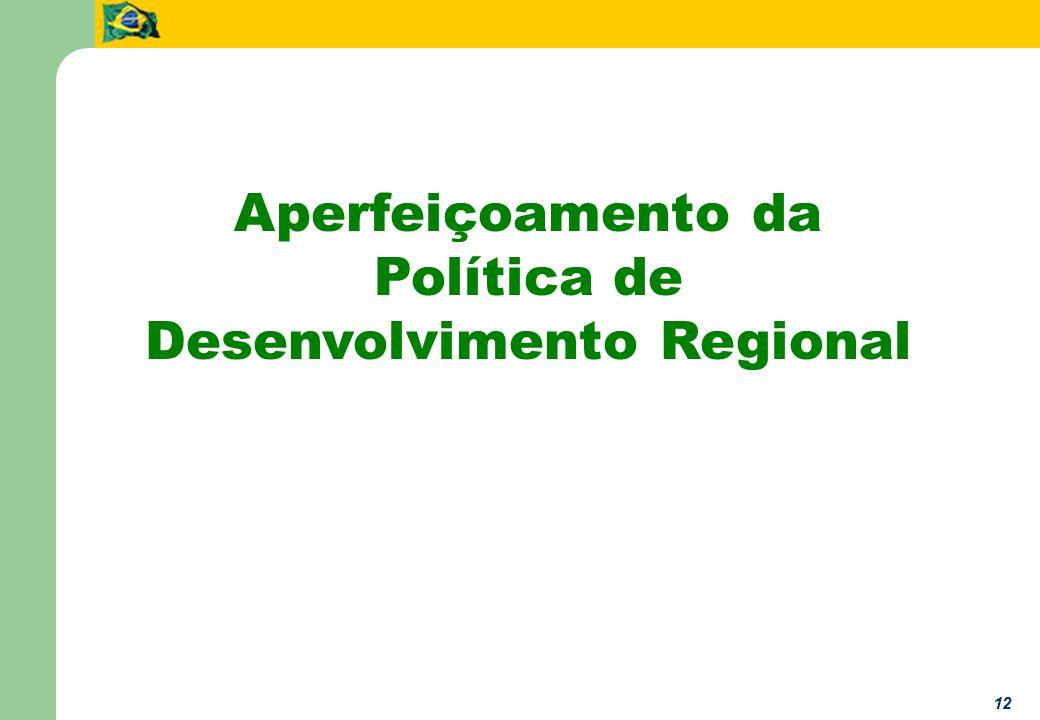 12 Aperfeiçoamento da Política de Desenvolvimento Regional