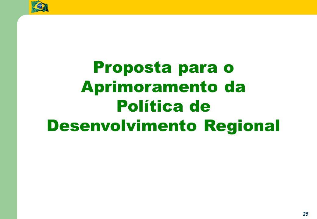 25 Proposta para o Aprimoramento da Política de Desenvolvimento Regional