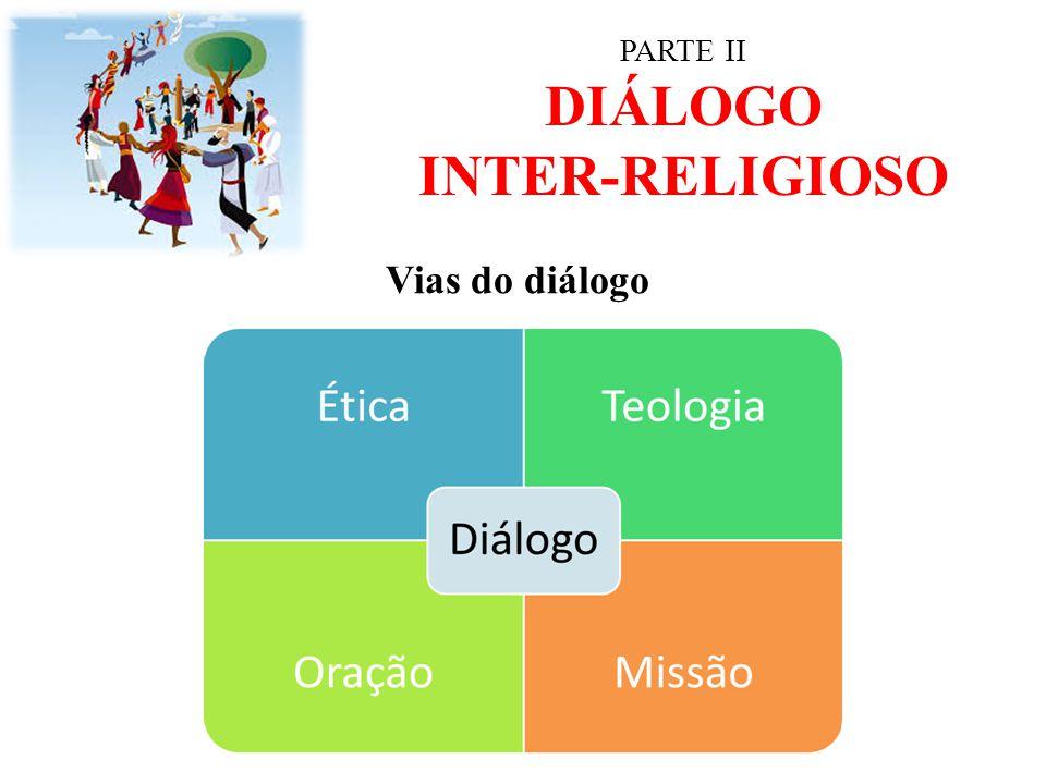 PARTE II DIÁLOGO INTER-RELIGIOSO Vias do diálogo