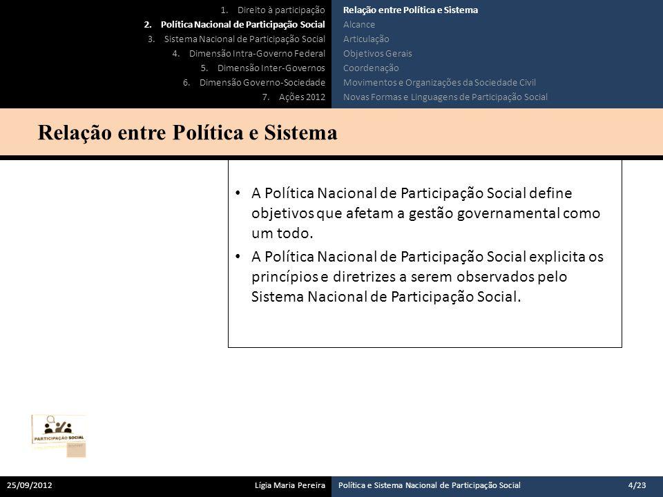 A Política Nacional estabelece o papel do Estado como agente promotor do direito humano à participação.