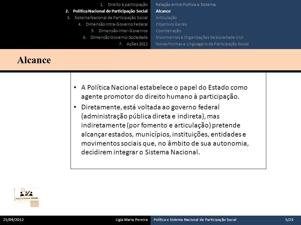A Política Nacional de Participação Social, definida no âmbito do governo federal, deve respeitar e estar articulada às políticas definidas nos outros entes da federação.